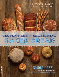Book Cover of Gluten-free on a Shoestring Bakes Bread by Nicole Hunn