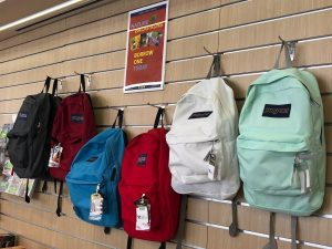 Image of Nature Backpacks in a row
