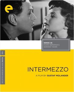 Cover for Intermezzo (1936) with Ingrid Bergman from the Criterion Collection