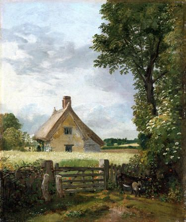 cottage in a cornfield john constable