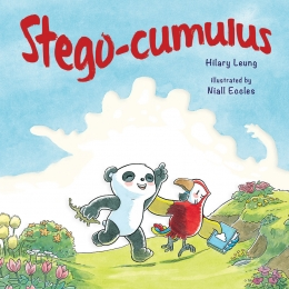 Book Cover of Stego-Cumulus by Hilary Leung, illustrated by Niall Eccles