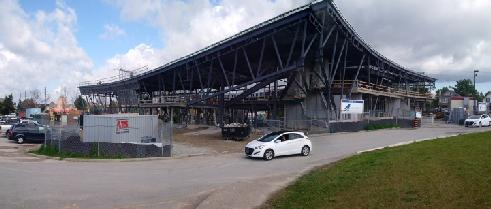 Southeast corner panorama view.