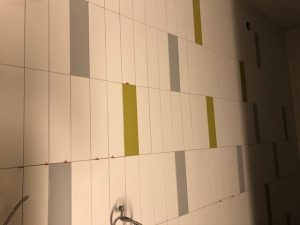 Tiles in the women's washroom