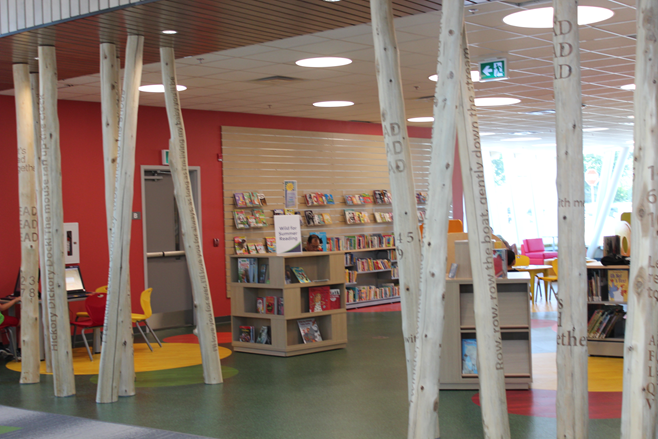 Trees in the Children's area of the library