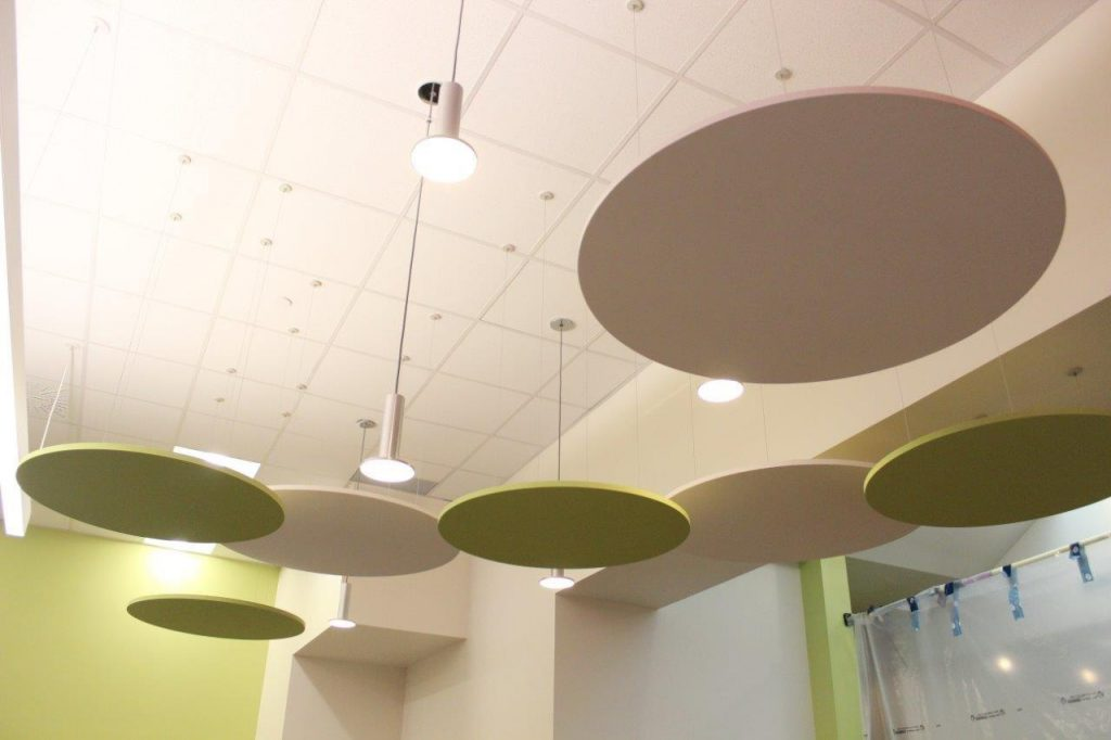 Lights and circles catch your eye as you enter the LEARN IT! Lab from the east entrance.