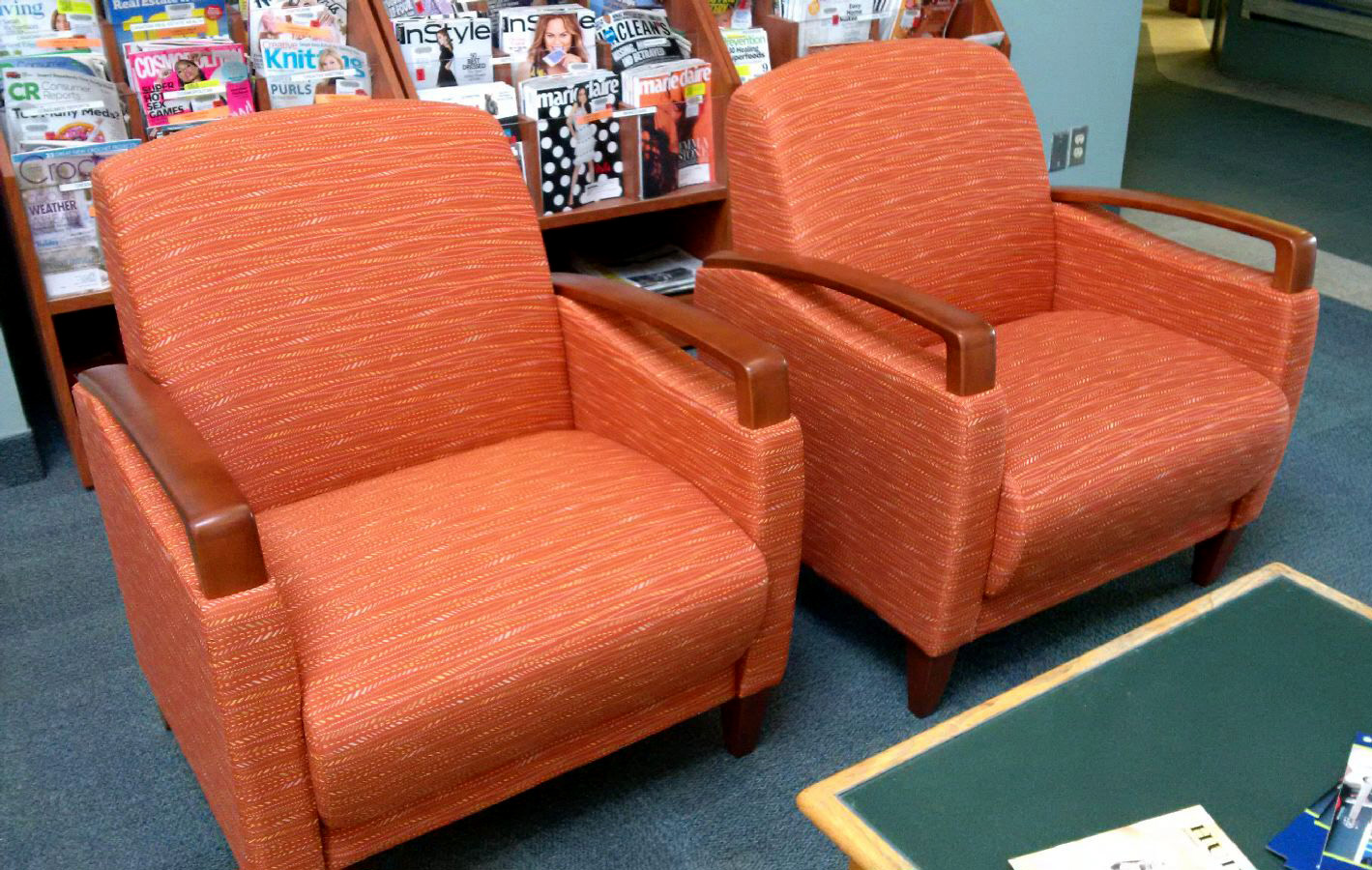 New chairs at Dufferin Clark Library