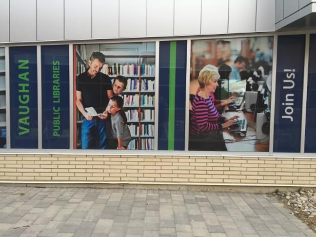 Window wraps at Pleasant Ridge Library