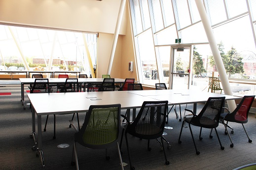 Tables in the study area are in place.