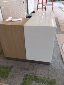 Installation of customer service desk