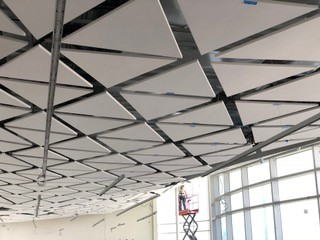 Placement of ceiling tile