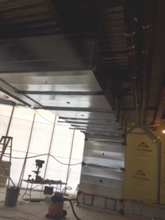 Duct work above the Marketplace area complete