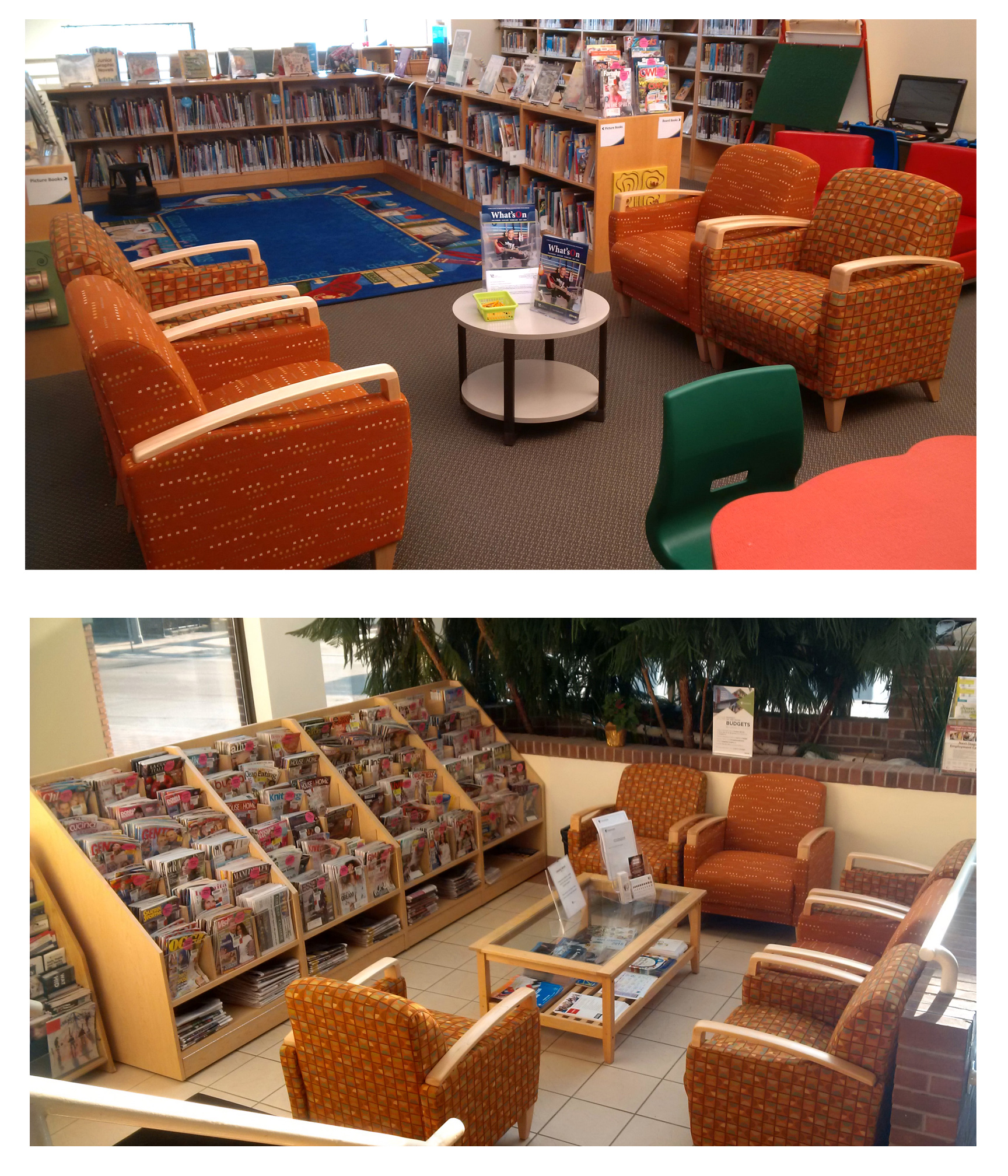 New chairs at Woodbridge Library