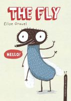 """Cover of the book """"The Fly"""", with an illustration of a fly saying """"Hello!"""""""