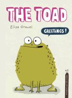"""Cover of the book """"The Toad"""", with an illustration of a toad saying """"Greetings!"""""""