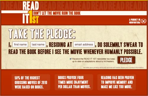 Take the pledge Read it first Photo