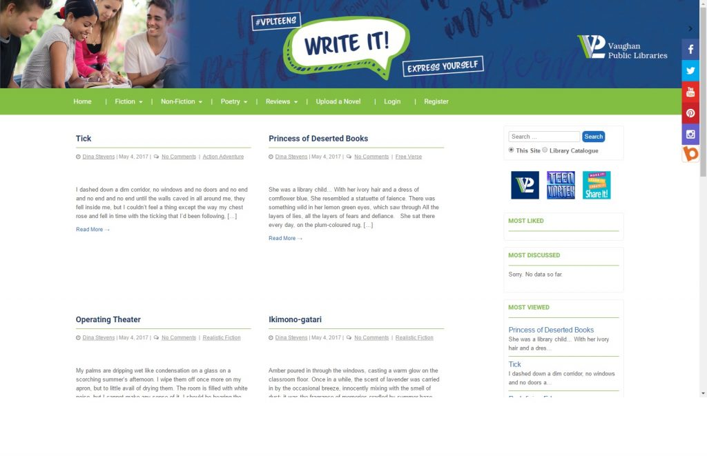 Write It Main Page